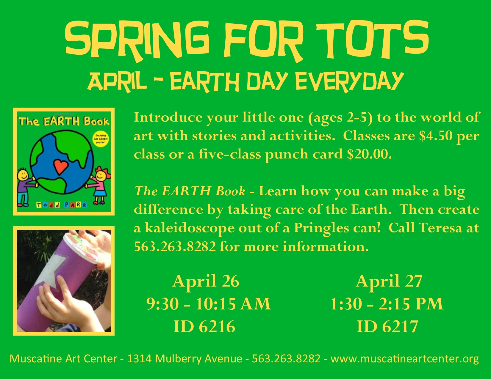 The Earth Book - Spring for Tots - Muscatine Art Center