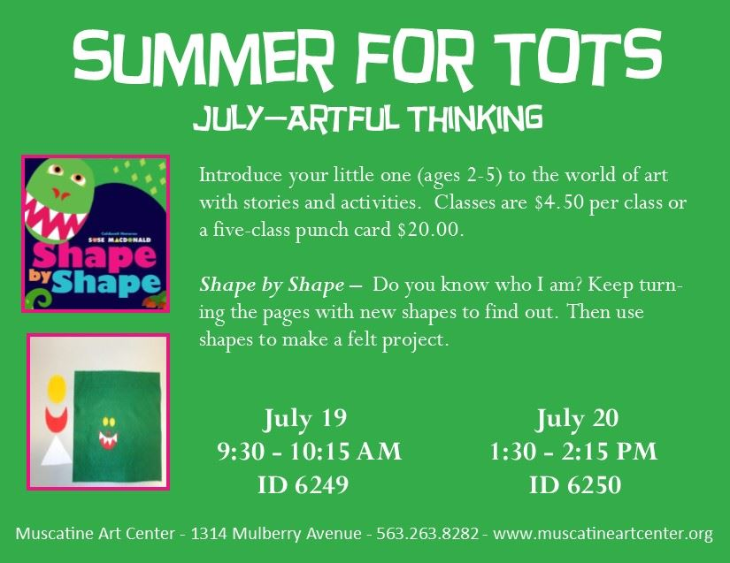 July 19-20 -  Summer for Tots - Shape by Shape