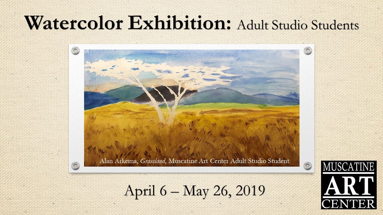 Adult Watercolor Exhibition April 2019