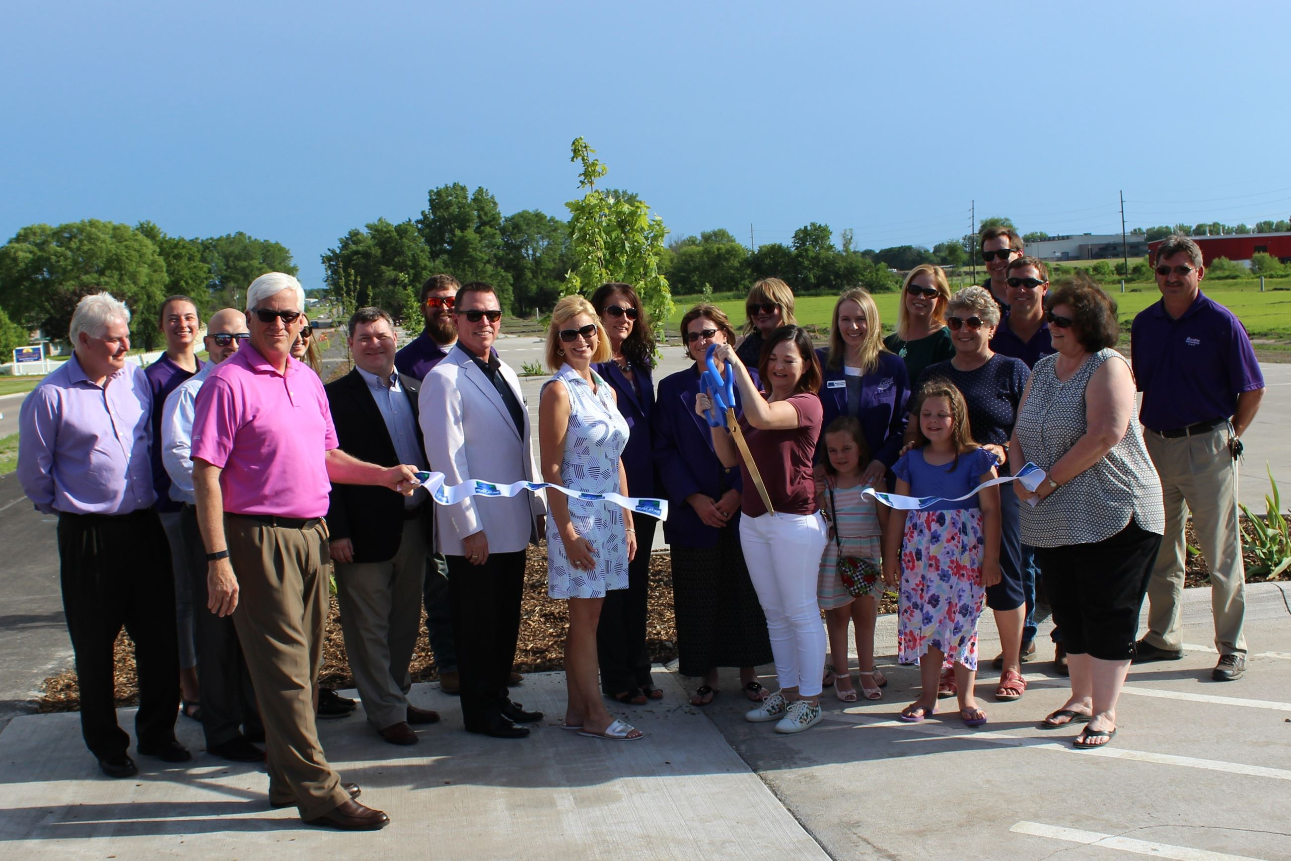 Cutting the ribbon for Houser Street expansion June 5, 2019 (JPG)