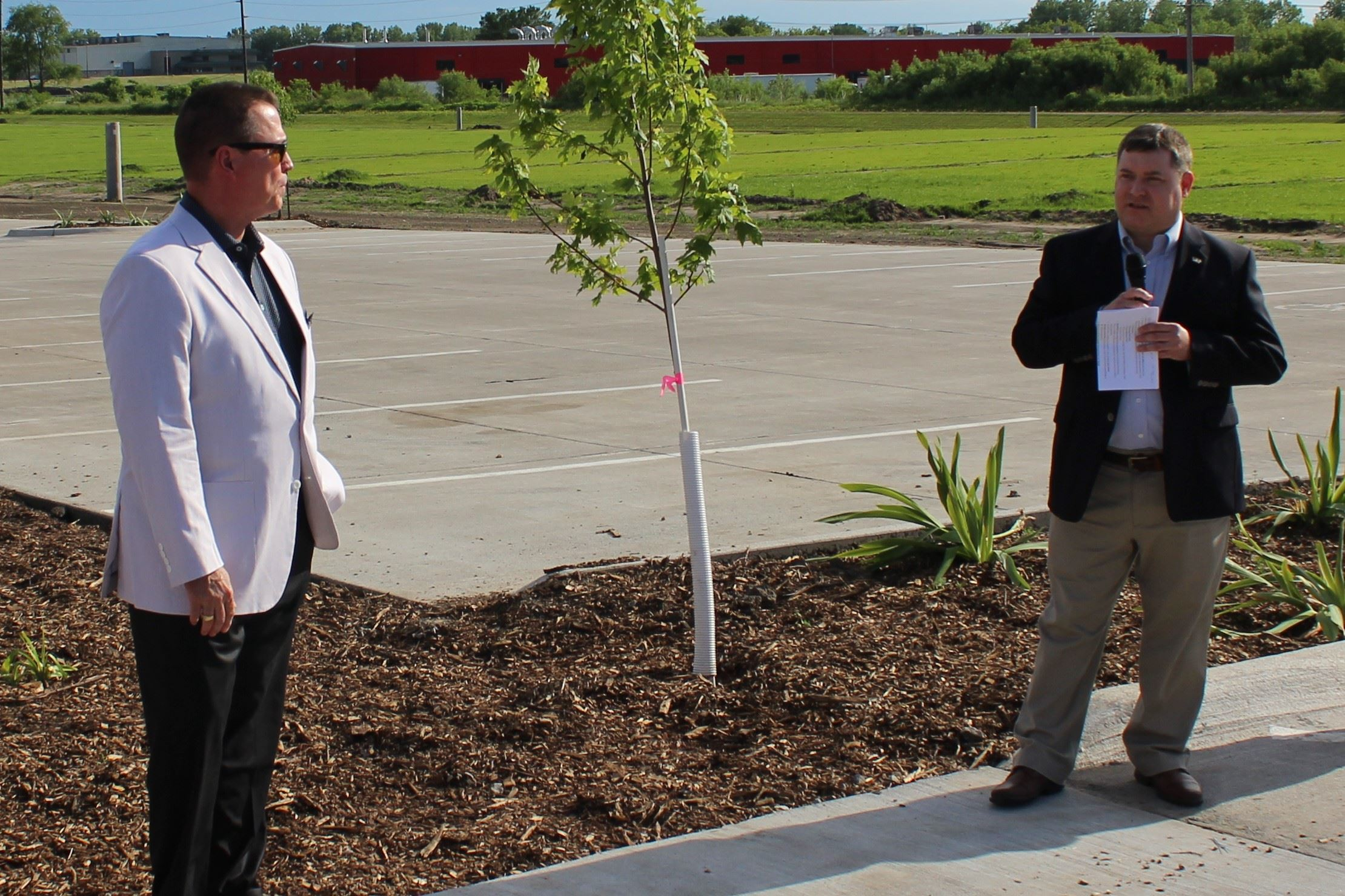 Gage Kent, Gregg Mandsager at Houser Street ribbon cutting June 5, 2019 (JPG)