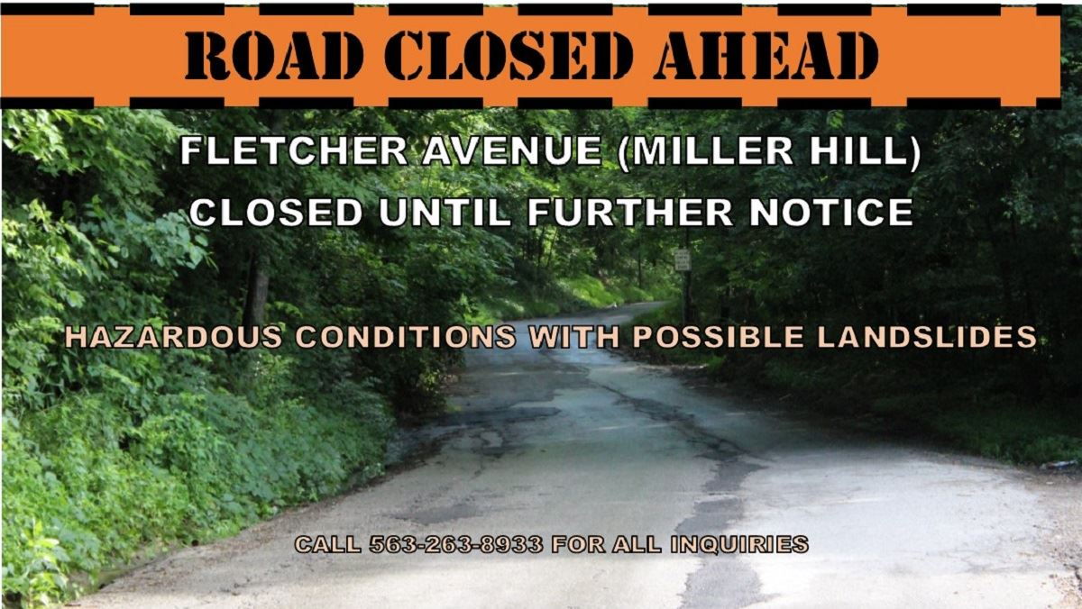 Fletcher Avenue closed indefinitely (JPG)