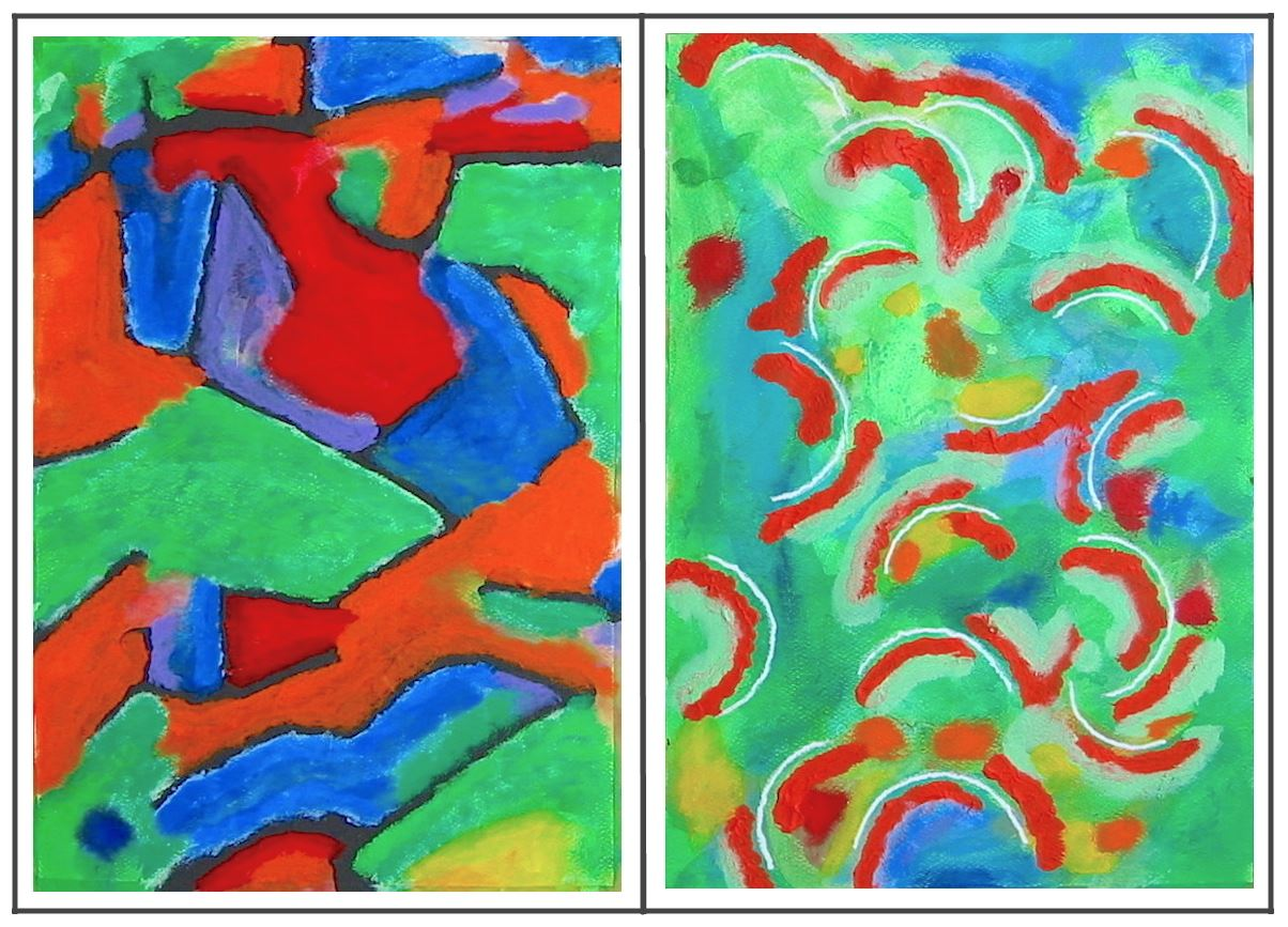 Brother and Sister Diptych (acrylics) (JPG)