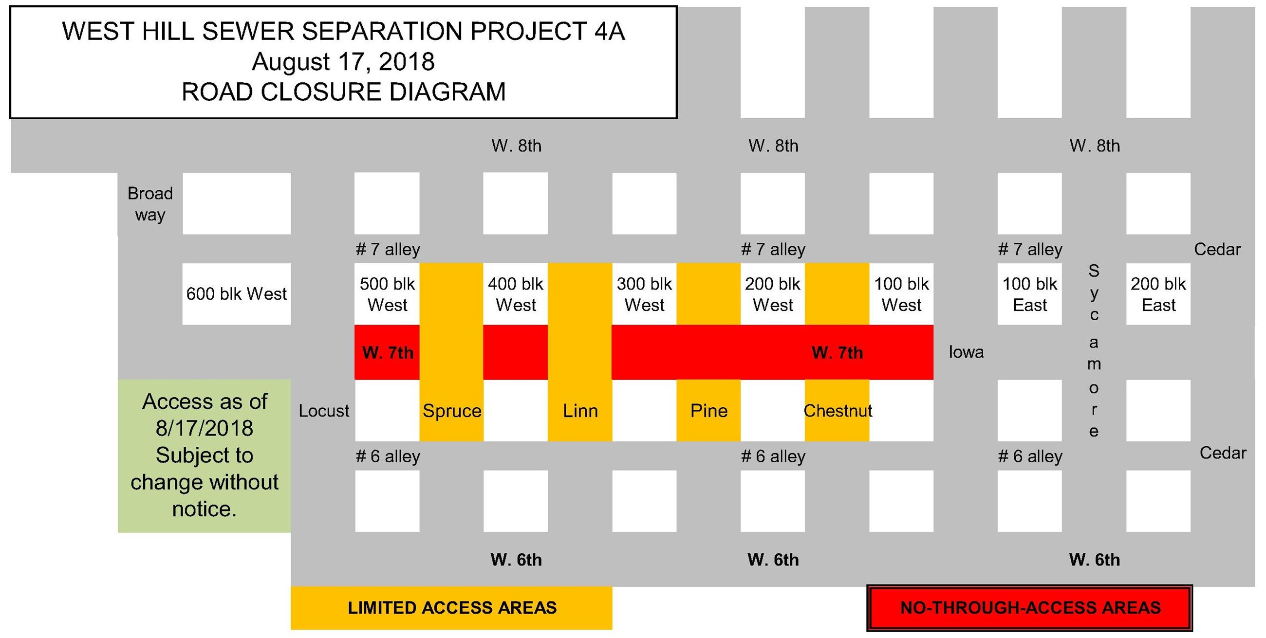 4A Road Closure Diagram 8-17-18