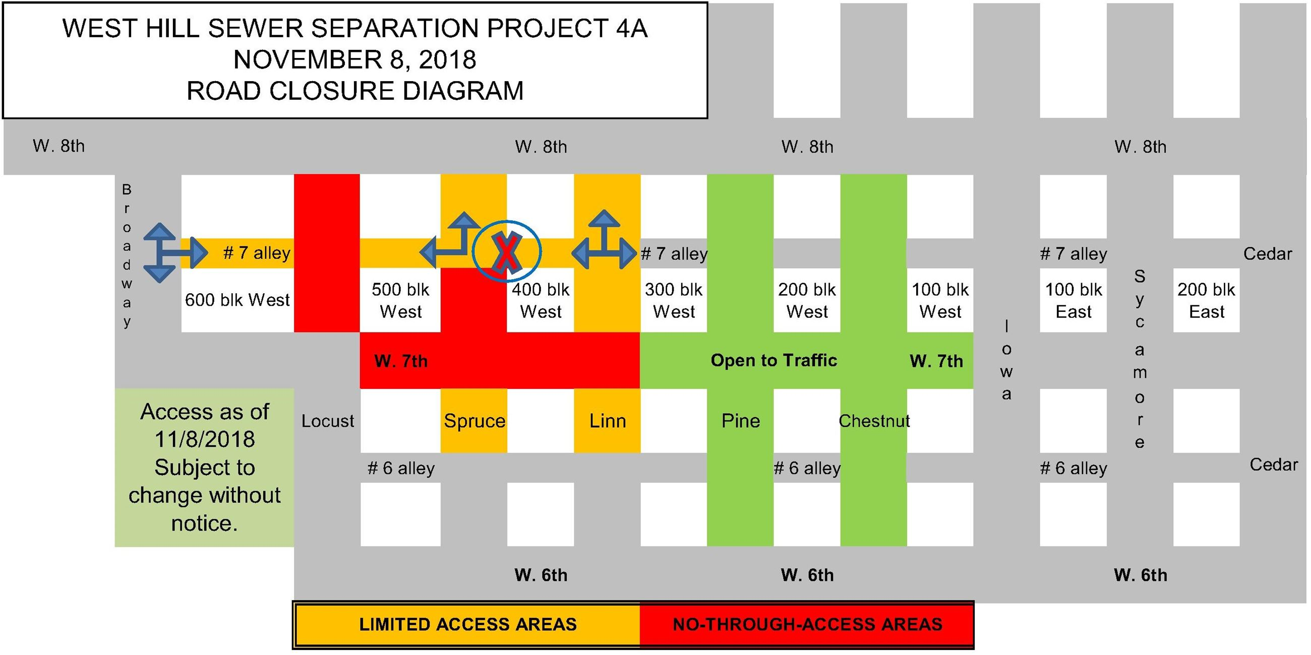 4A Road Closure Diagram 11-8-18