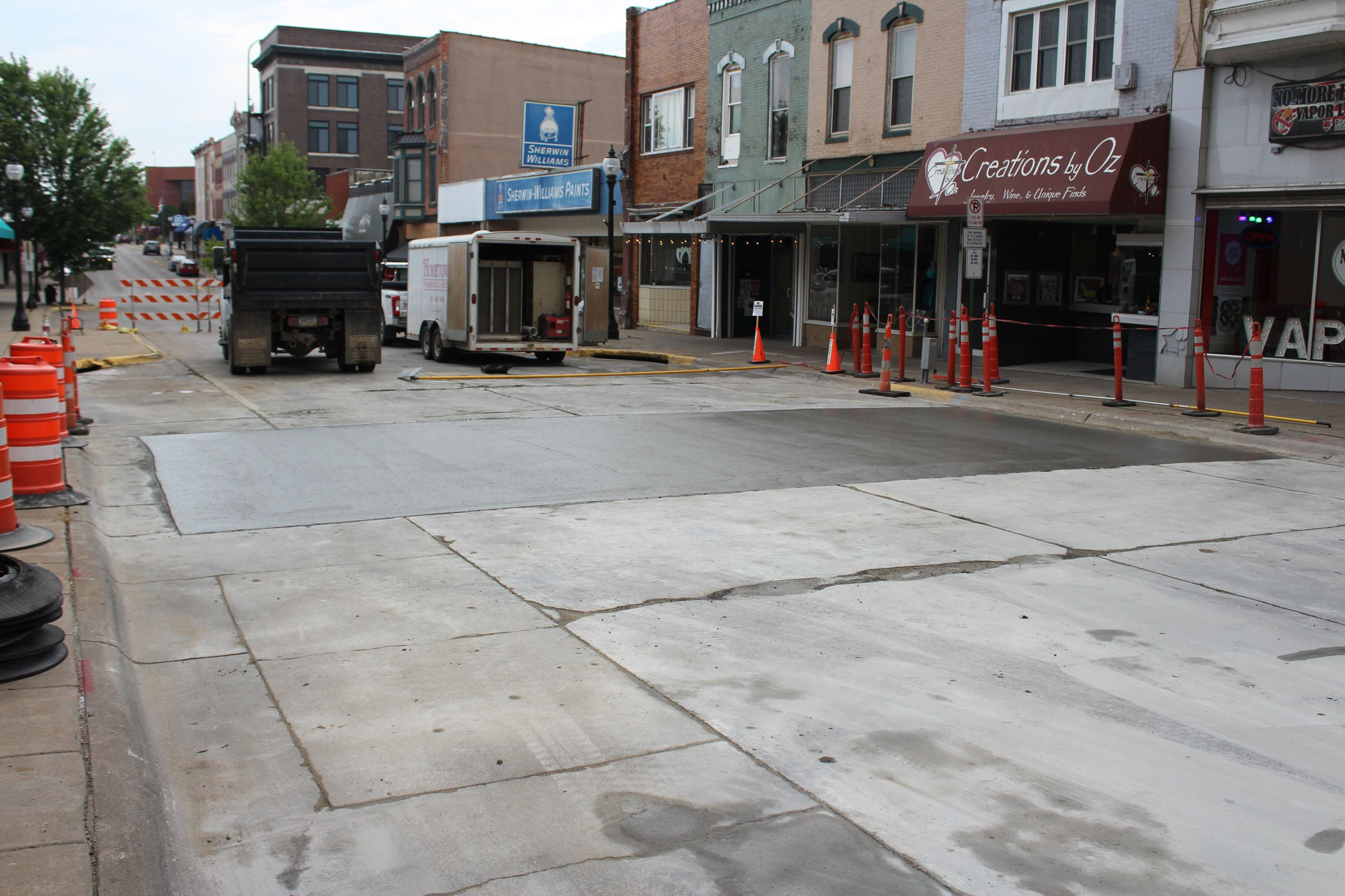 2nd Street Sewer Repair - concrete poured July 25, 2019 (JPG)