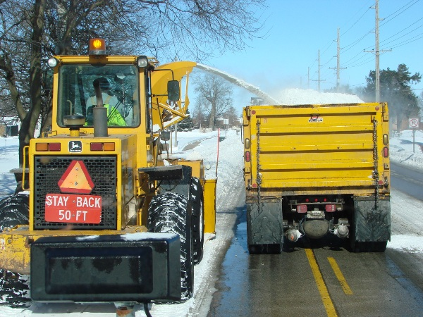 Two snow plows