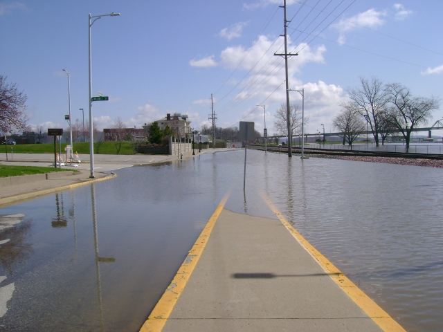 Mississippi Drive flooded on April 22, 2013