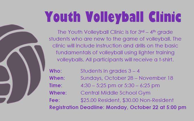 2018 Fall Youth Volleyball Clinic