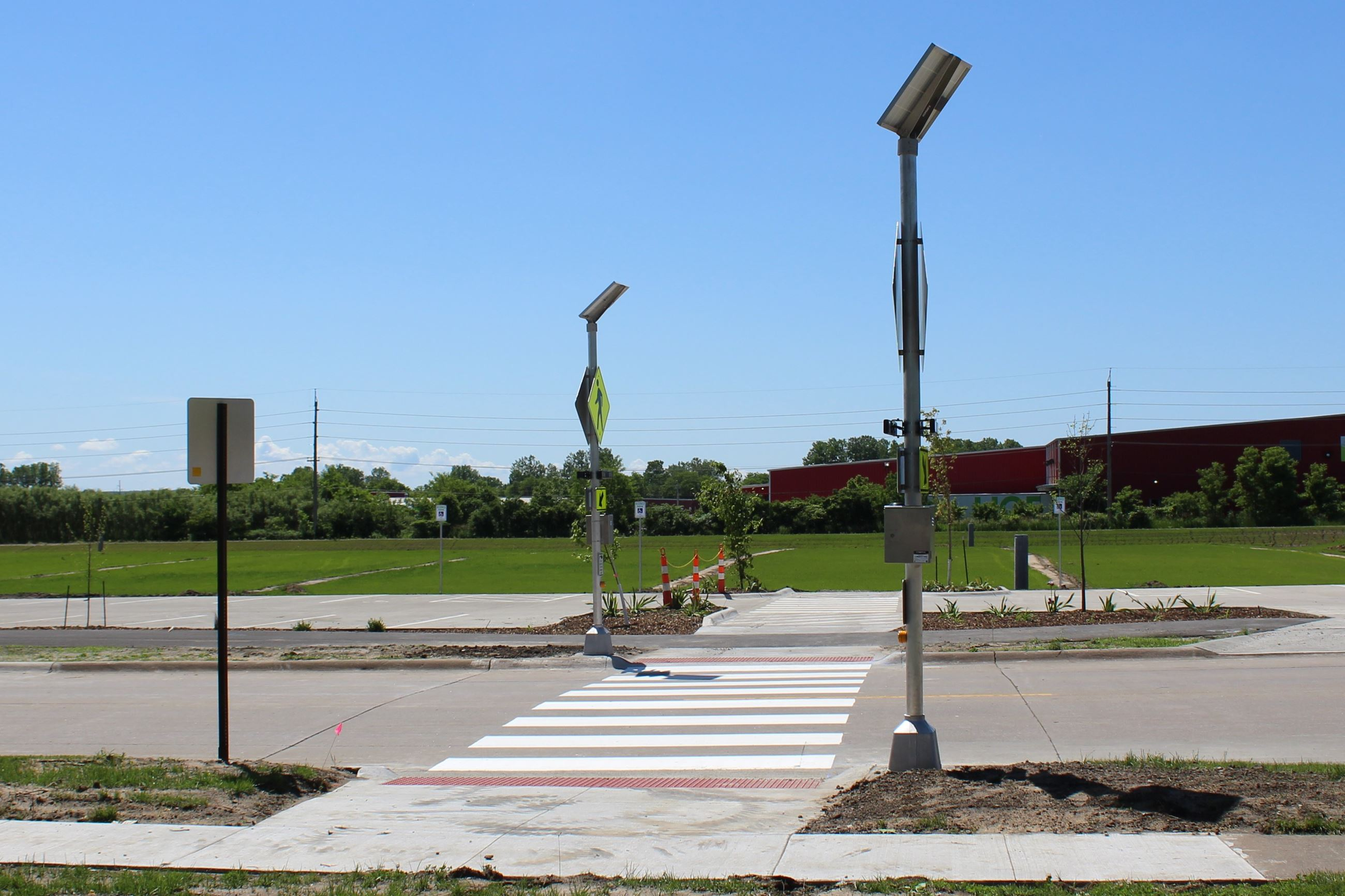 Traffic crossing at Houser Street athletic complex June 5, 2019 (JPG)