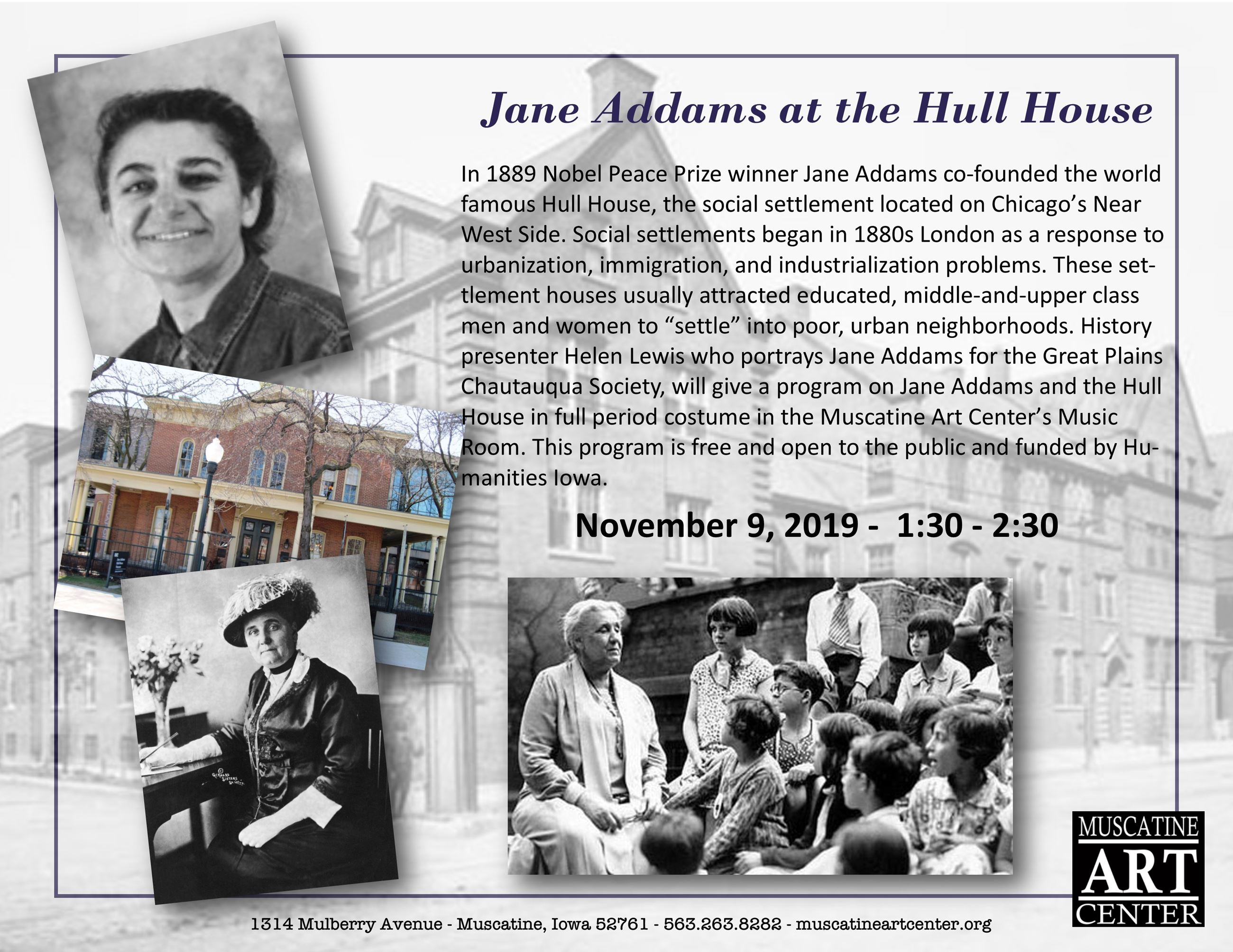 Jane Addams at the Hull House