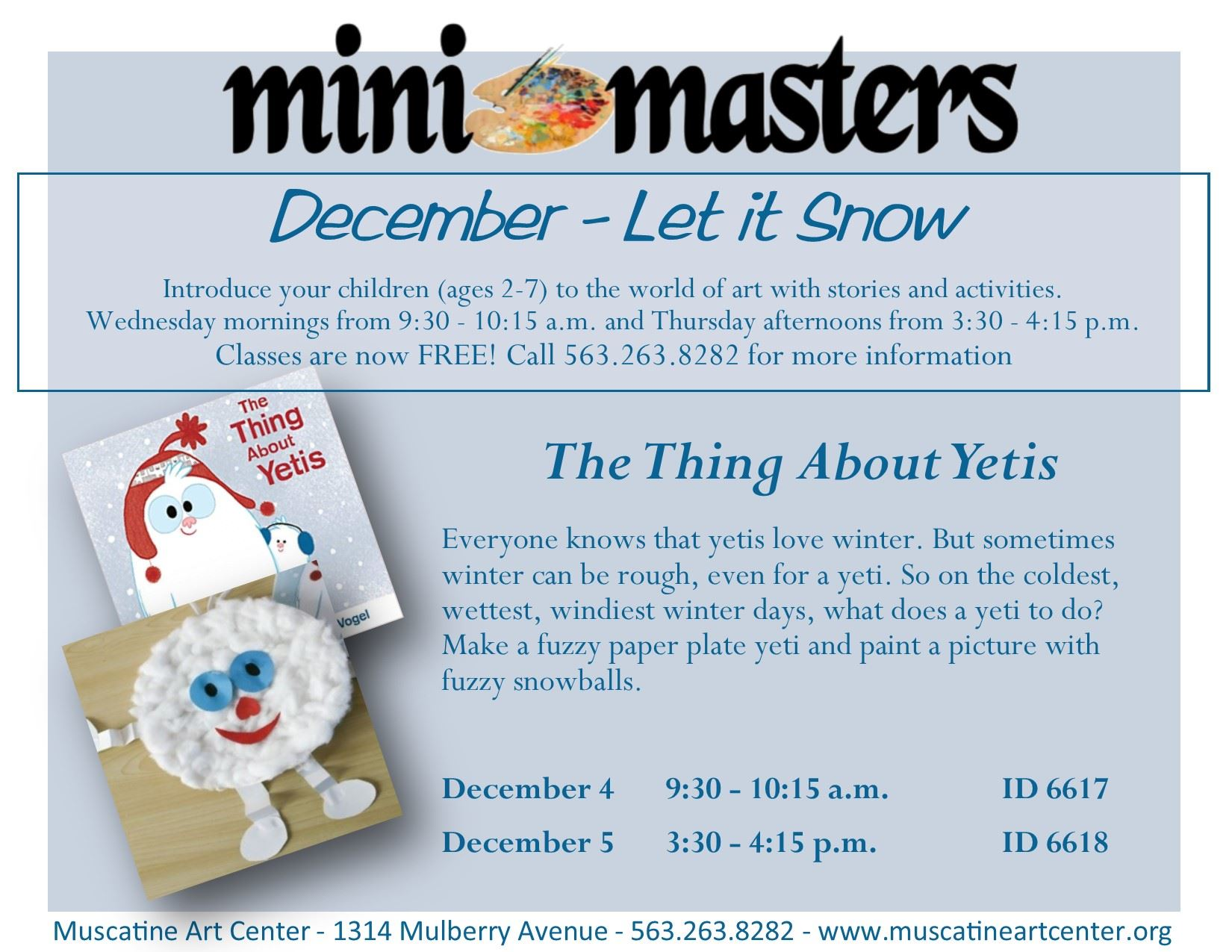 December 4-5 - The Thing About Yetis - mini masters