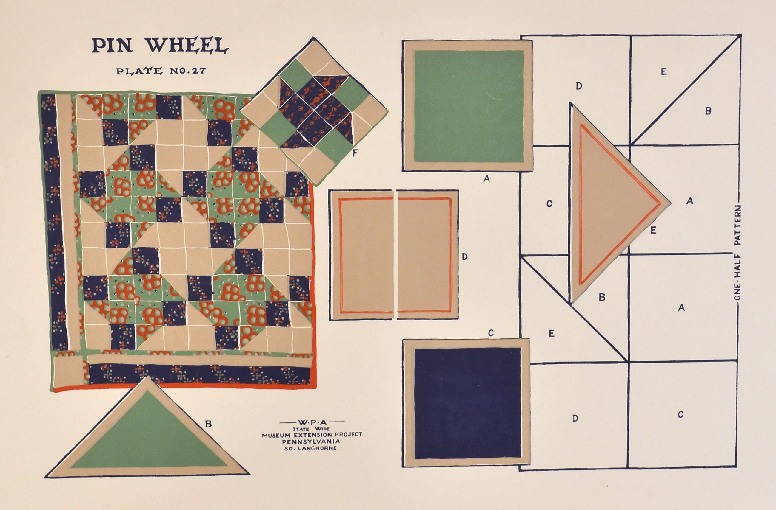 Pin Wheel quilt pattern (JPG)
