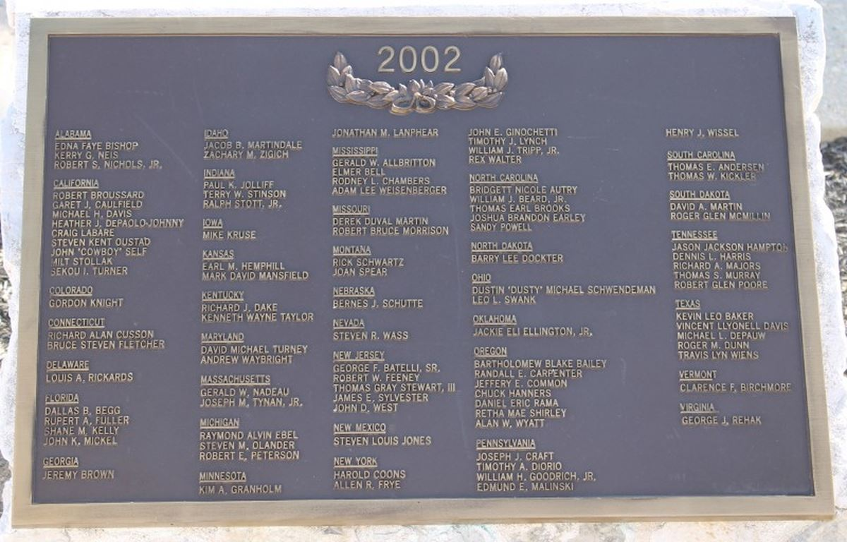 National Fallen Firefighters Memorial Plaque (JPG)