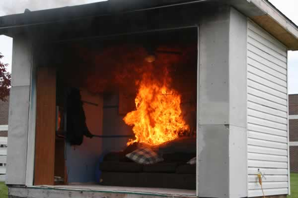 Example of room fire